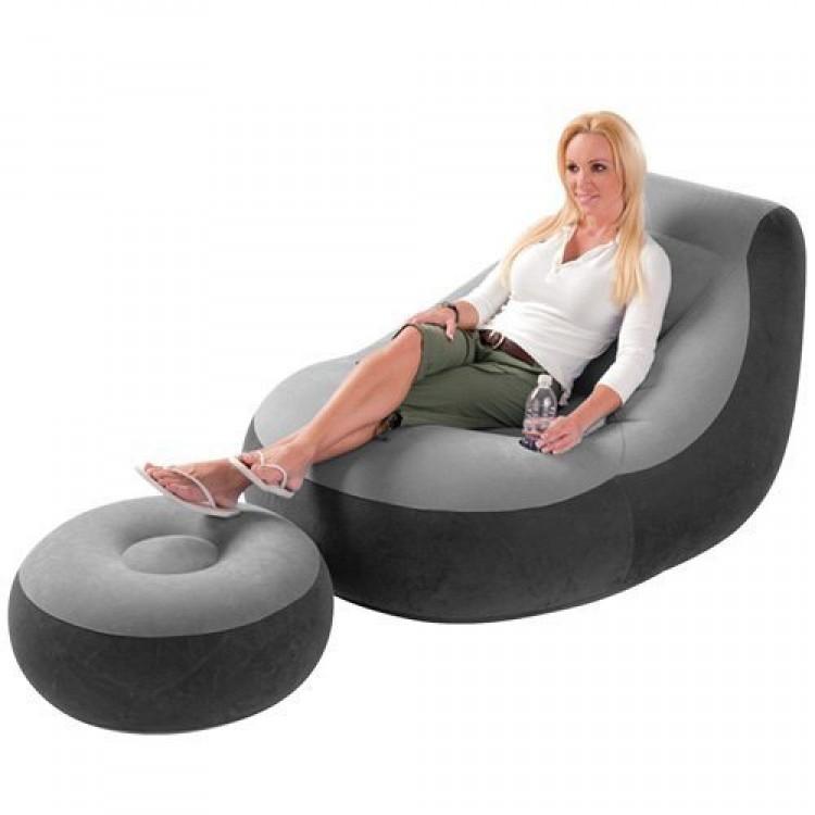 Lekkere Lounge Stoel.Intex Ultra Lounge Stoel Met Poef