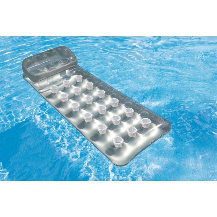 Metallic luchtbed luchtbedplaza for Matelas de piscine