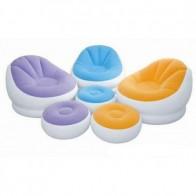 Intex Cafe Chaise Chair - Opblaasstoel met poef